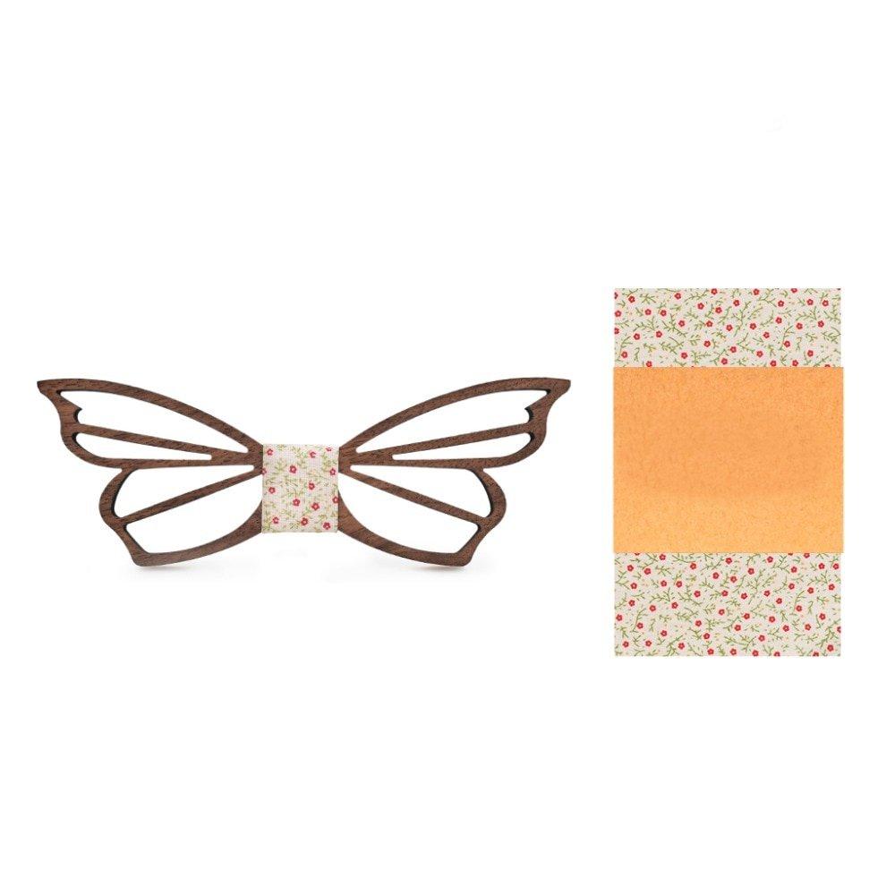 Muszka Drewniana Motyl 4
