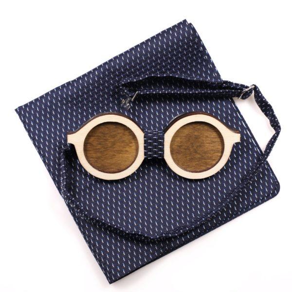 Muszka Drewniana Okulary 1 2